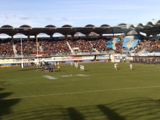 the rugby ground guide stade aim giral usa perpignan. Black Bedroom Furniture Sets. Home Design Ideas